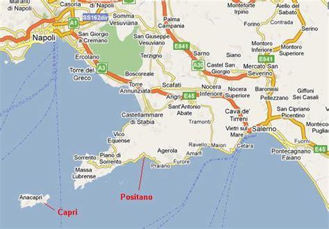 map of amalfi coast amalfi coast map my
