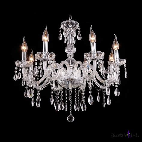 Glittering Crystal Strands And Beads Cascades 6 Light Chandelier Strands