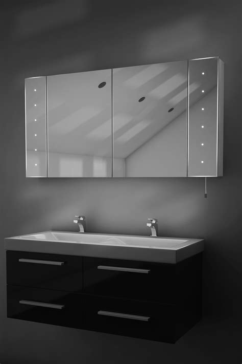 Battery Bathroom Mirror Karma Led Illuminated Battery Bathroom Mirror Cabinet With Pull Cord K144