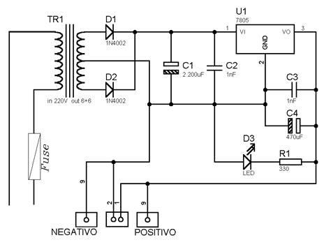 schema elettrico alimentatore switching timer spegnimento lade
