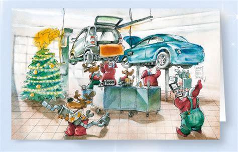 karten werkstatt weihnachtskarte branchenkarte kfz werkstatt mit hebeb 252 hne