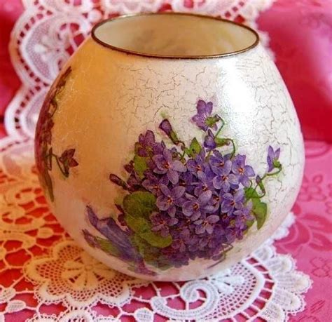 Decoupage Vase Ideas - decorated glass vase found on charlottesdesign