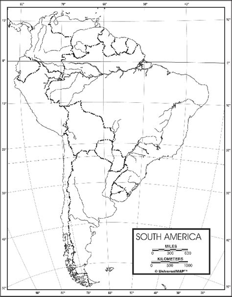 and south america outline map south america outline map 50 pack paper free shipping