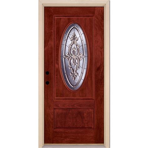 Feather River Doors 37 5 In X 81 625 In Silverdale Zinc Home Depot Entry Doors With Glass