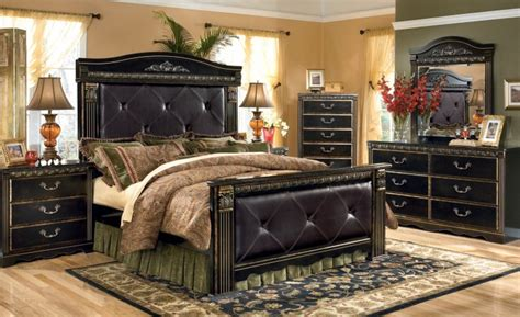 coal creek bedroom set coal creek mansion bedroom set from ashley b175