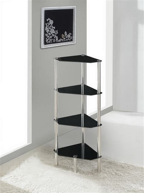 bathroom table stand 4 tier triangle glass stand coffee table bathroom
