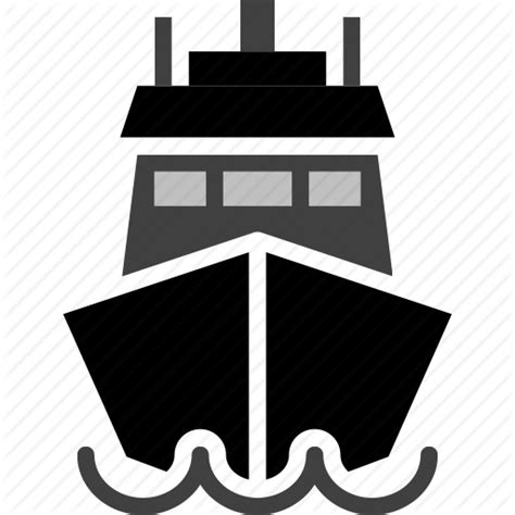 boat front icon vehicle and logistics by charlene hea
