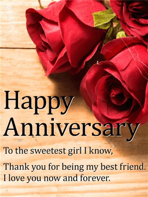 To my Best Friend! Happy Anniversary Card   Birthday
