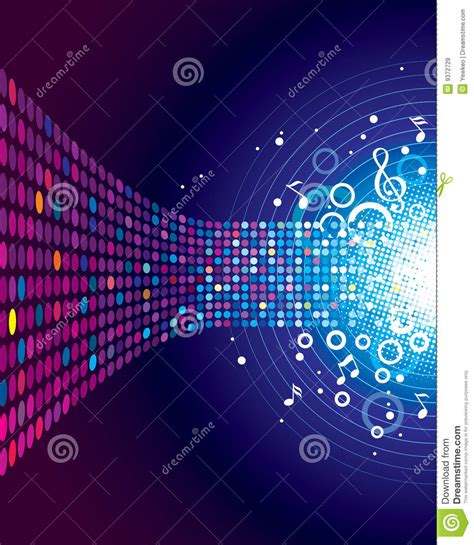 stock sound sound of music stock vector image of disco event funky