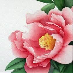 water color flower peony watercolor flower painting 12 x 12 by carolsapp