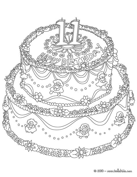 Birtheday Cake 11 Years Coloring Pages Hellokids Com Coloring Pages For 11 Year Free