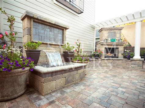 wall water features outdoor backyard garden wall water