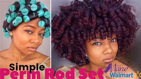 how to do a perm rod set on short relaxed hair simple perm rod set night routine natural hair updated