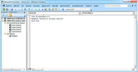 tutorial visual basic in excel c 243 mo insertar macros en excel con visual basic tutorial