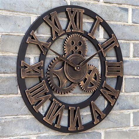 creative clocks by karlsson clocks bonjourlife oversized large decorative vintage retro art luxury gears