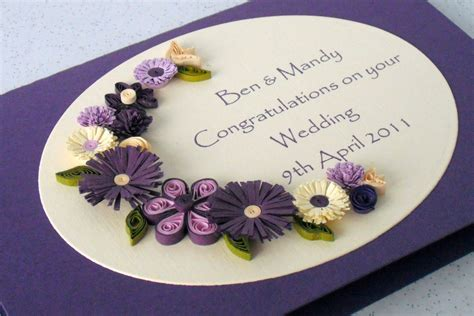 Wedding Congratulations Flowers Uk by Wedding Congratulations Card Quilled Flowers Personalized