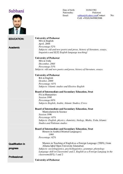 exceptional format of a cv resume sle resume