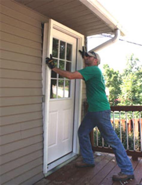 Brickmold Door by Installing A New Exterior Door How To