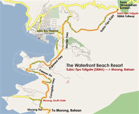 fort morong resort map philippines resort information the water front