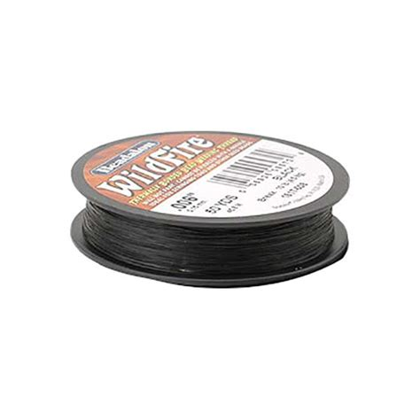 wildfire beading thread beadalon wildfire bead weaving thread black 006 2mm