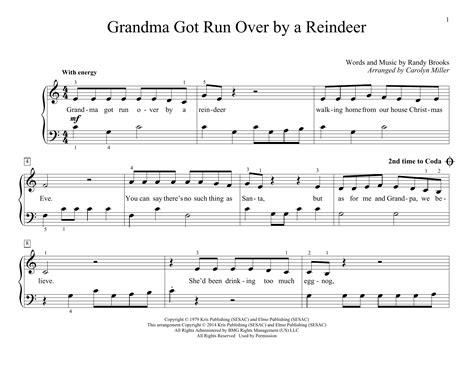 grandma got run over by a reindeer chords the grandma got run over by a reindeer sheet music direct
