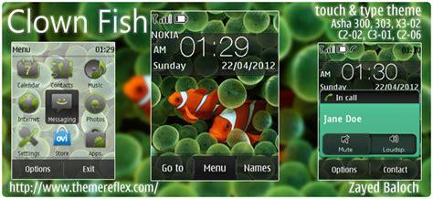 new themes x3 clown fish theme for nokia asha 300 303 x3 02 c2 06