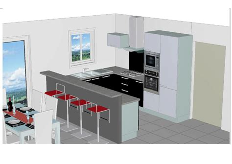 plan 3d cuisine maison sponsoris 233 e 41 label rt 2012 224 oucques 41290