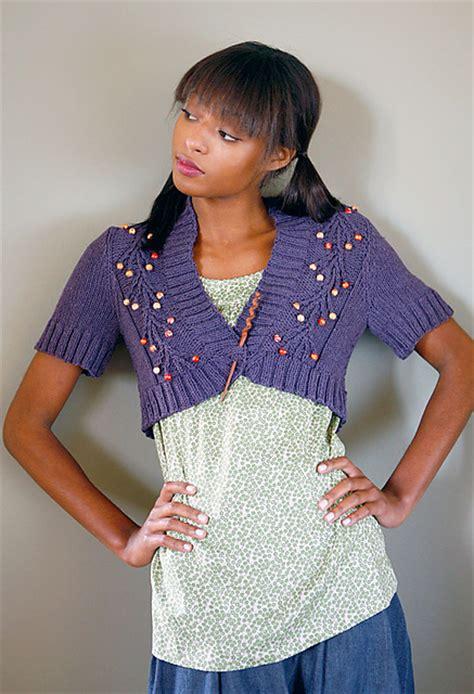 free knitting patterns shrugs boleros shrug and bolero knitting patterns in the loop knitting