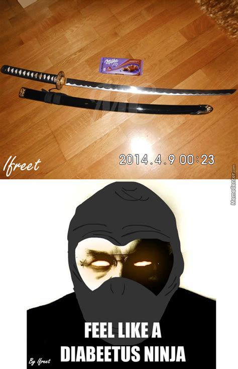 My Ninja Meme - my ninja sword chocolate milka for scale by ifreet meme