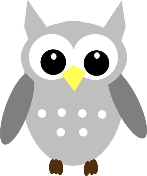 Piyama Owl Green New 1 yellow gray owl clip at clker vector clip royalty free domain