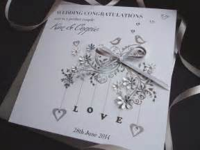 Handmade Wedding Cards Uk - handmade wedding card birds handmade cards pink posh