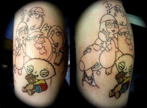 family guy tattoo family leg in progress