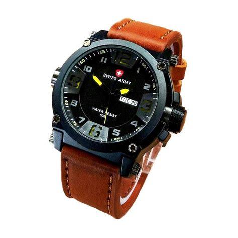 Jam Tangan Tangan Pria Swiss Army 8040 jual swiss army sa 4048 jam tangan pria hitam kuning harga kualitas terjamin