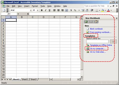 Authoring Techniques For Accessible Office Documents Excel 2003 Accessible Digital Office Microsoft Excel 2003 Templates