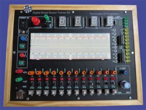 digital design lab with solderless breadboard electronic engineering trainer kit power electronic