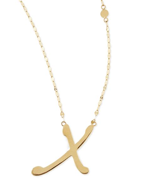 jewelry 14k gold initial letter necklace x in gold lyst