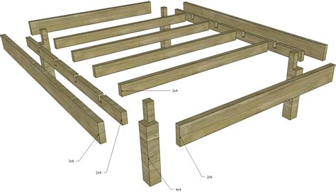 make a bed frame woodworking how to build disassemblable structure