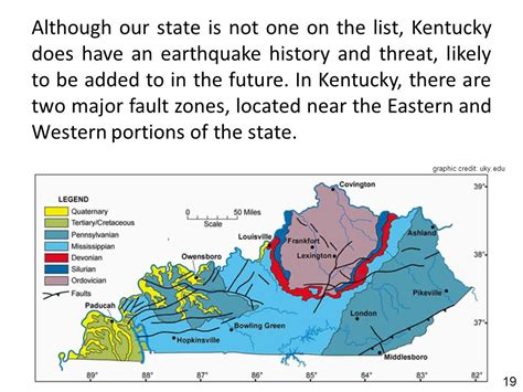 kentucky earthquake map provided by kentucky division of emergency management