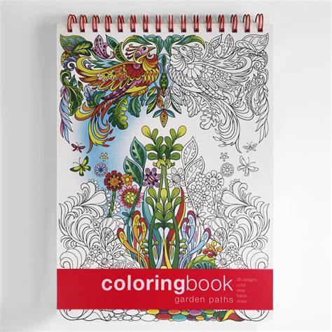 coloring book manufacturers garden paths coloring book intricate coloring books
