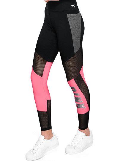 Cotton Legging Pink bling cotton mesh pocket legging pink s secret