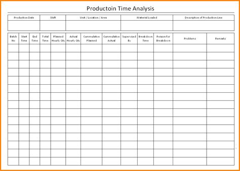 study analysis template 6 time study template cashier resume