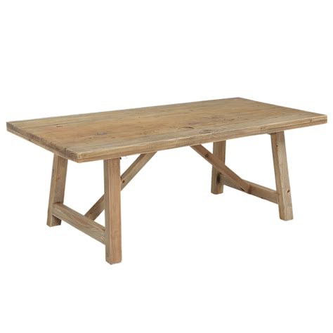 rustic trestle coffee table