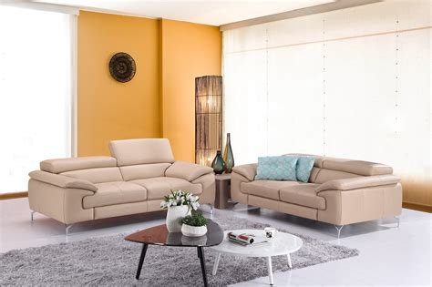 Genuine Leather Living Room Sets Genuine Leather Living Room Set Westlake California J M A973 Peanut