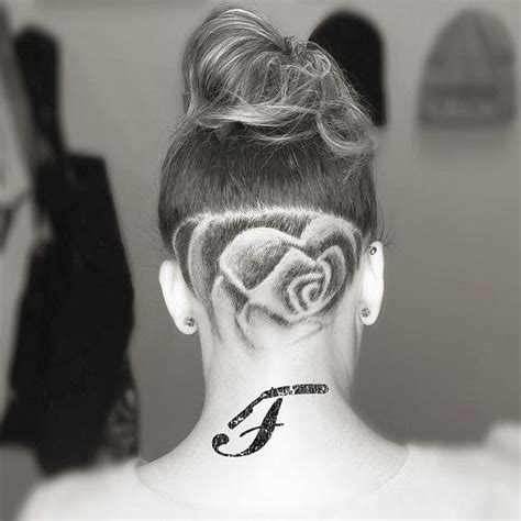 undercut pattern hair undercut patterns for girls www imgkid com the image
