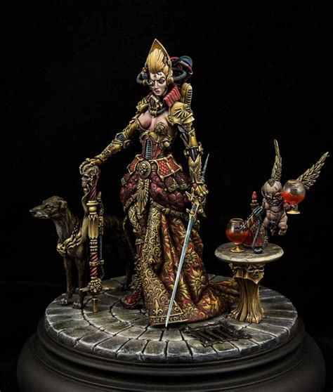 Painting Miniatures by Administrator Itela Justina And Cherub Jael By