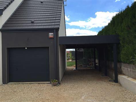 Extension Garage Bois by Impressionnant Extension Garage Bois Toit Plat Avec