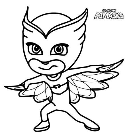 imagenes para pintar heroes en pijama dibujos para colorear pj masks heroes en pijamas