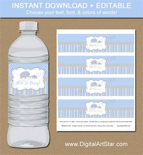 free water bottle labels for baby shower template ba shower labels templates baby shower water bottle labels