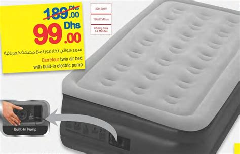 carrefour air bed with build in electric carrefour offers