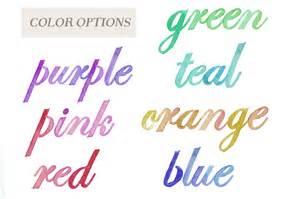 water color font watercolor alphabet letters